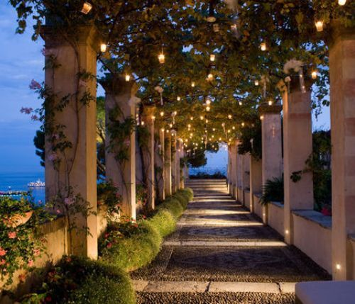 Lighted Walkway, Portofino, Italy