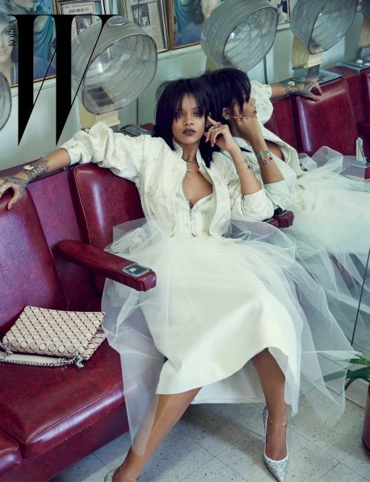 Rihanna in DIOR Spring 2015 FOR W Korea March 2015 Anniversary Issue
