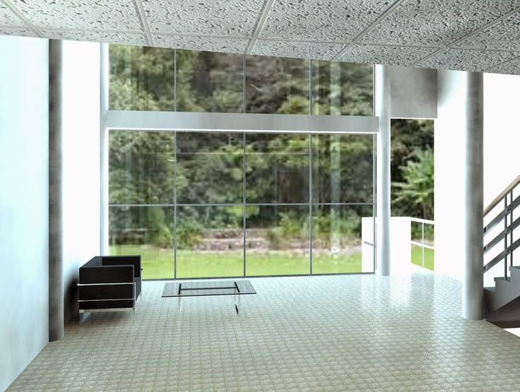 Interior view. Villa Citrohan. Le Corbusier. Render designed in April 27, 2015