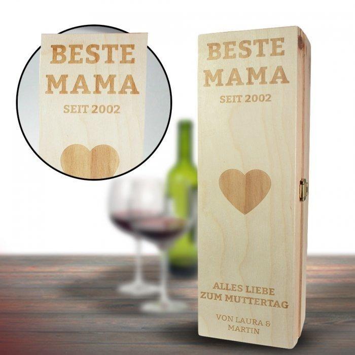Die personalisierte Weinkiste für Mama ist ein liebevolles Weingeschenk zum…