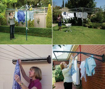 Outdoor clothes line types