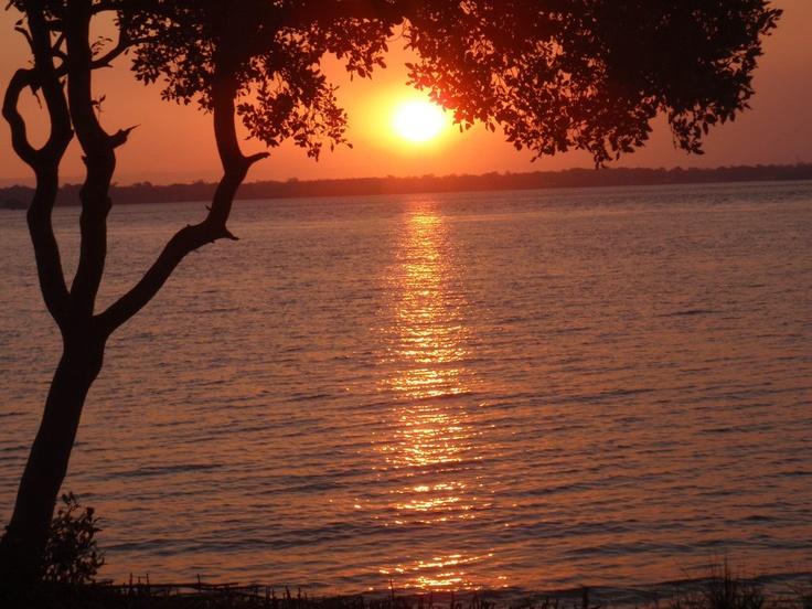 Sunset over Bribie Island Qld Australia.
