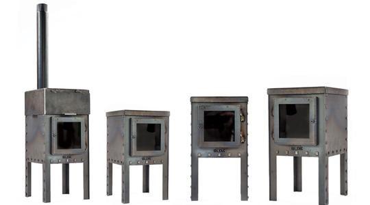 BLOK meubel | tuinhaard van cortenstaal