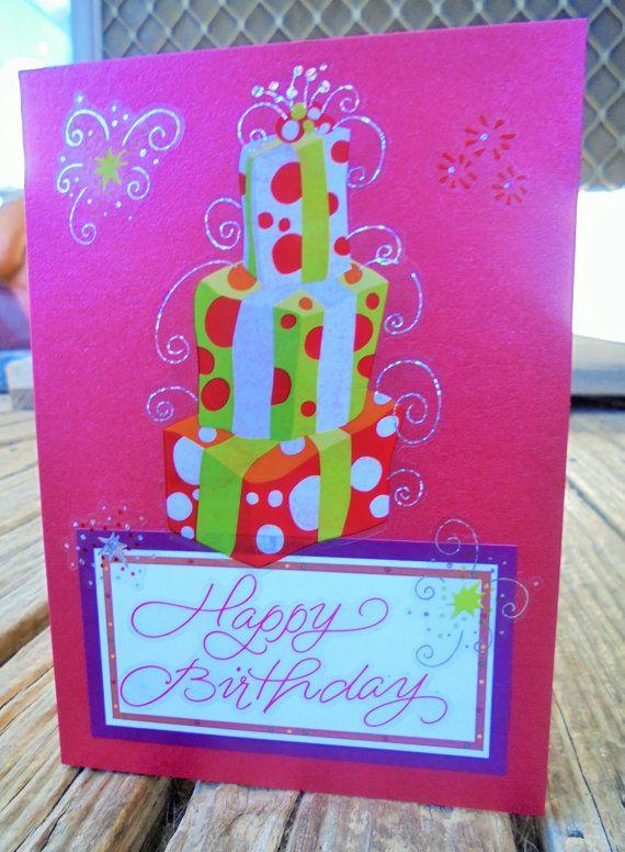 Red Birthday  handmade card FWB birthday card by RogueKissedCraft