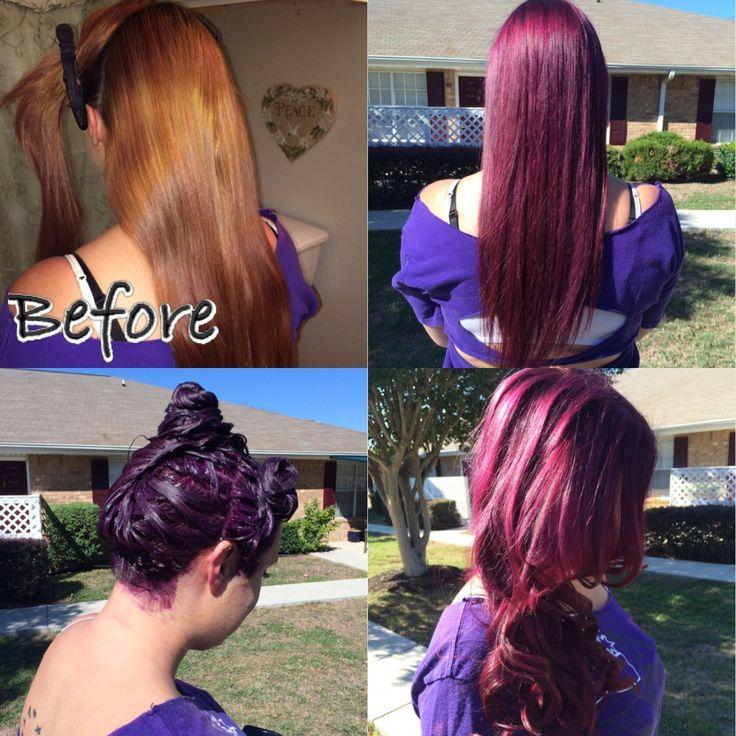 ... Age Beautiful Hair Color Dark plum brown using age beautiful 4v