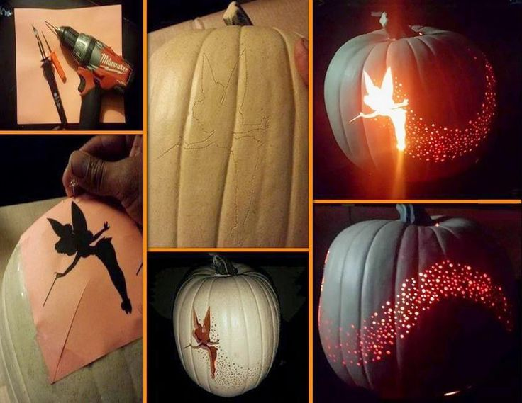 Tinkerbell Pumpkin Carving
