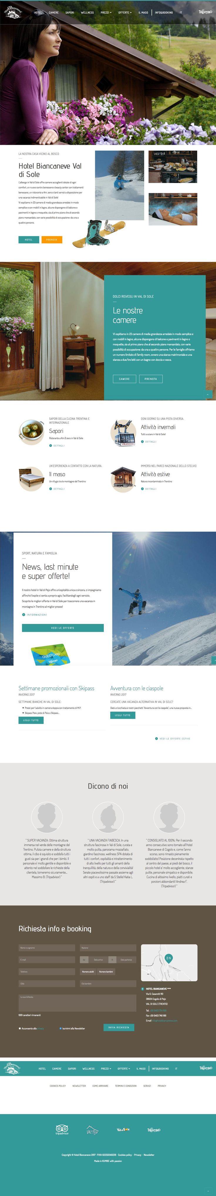 #hotelbiancaneve www.hotelbiancaneve.com #Kumbe #portfolioweb #webdesign #website #responsivedesign #responsive #cogolo #valdipajo #valdisole #trentino #hotel #holiday #love #family #ciaspole #ski #snow #trekking #skipass #sapori #tradizione #maso