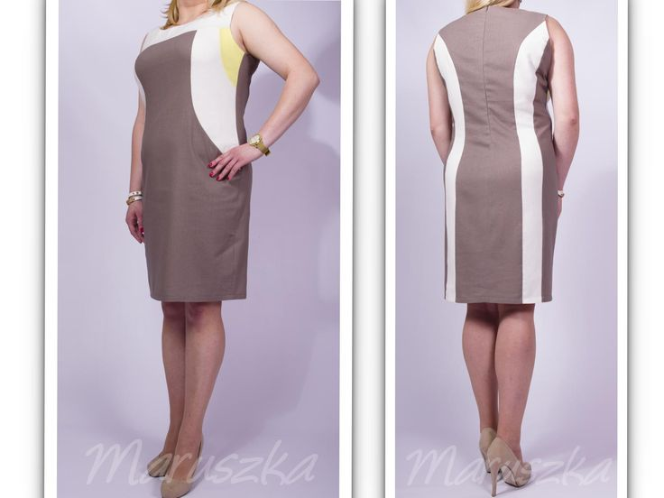 Piękna lniana sukienka idealna na lato rozmiar 48!!! Summer dress