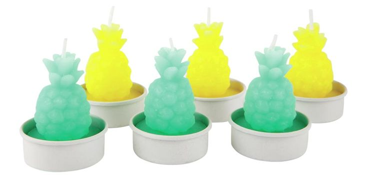 These cheap and cheerful pineapple tealights from Oliver Bonas will add a bright pop of colour to every guests' place setting, should you choose to use them as wedding favours.