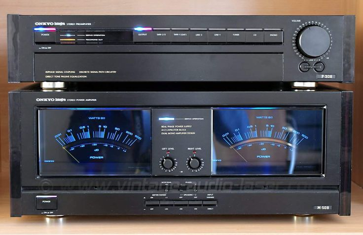 Vintage Audio Onkyo P308 Preamp and M508 Stereo Power Amp.
