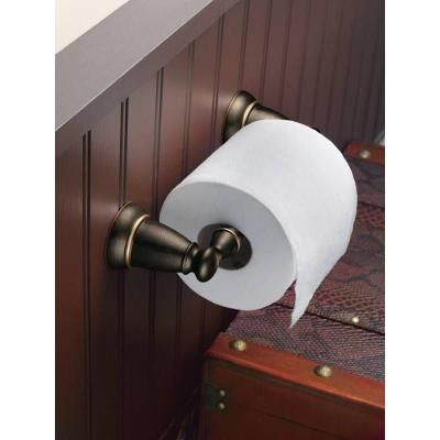 MOEN Banbury Pivoting Double Post Toilet Paper Holder in Mediterranean Bronze-Y2608BRB at The Home Depot.  $29.98 for toilet paper holder.