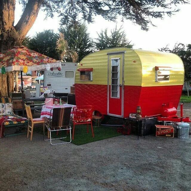 Vintage trailer camp