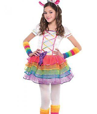 unicorn kostuum voor meisjes. een leuke regenboog tutu