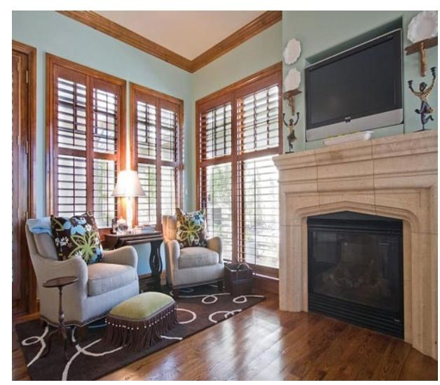 Natural Wood Trim Pale Blue Walls For The Home