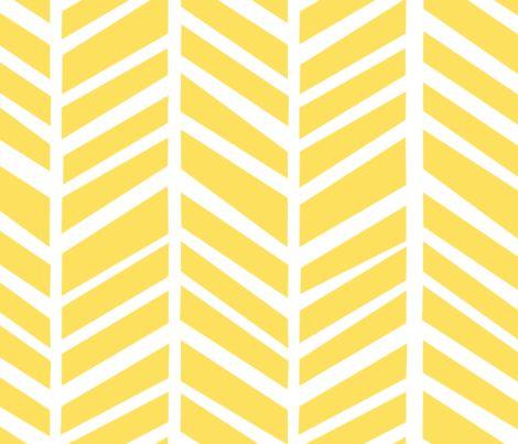 Herringbone Lemon Zest Yellow fabric by friztin on Spoonflower - custom fabric