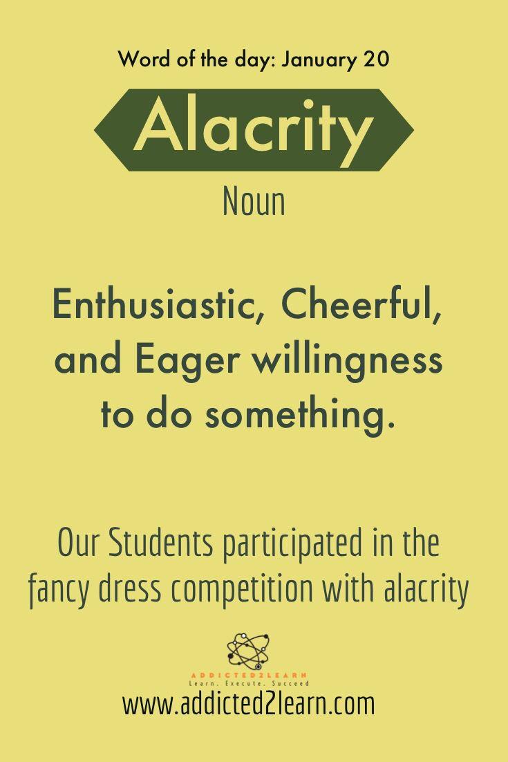 Alacrity | English vocabulary | Advanced english vocabulary, English