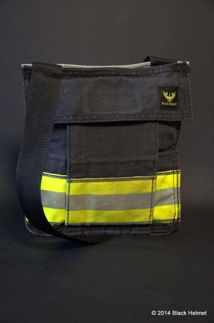 Recycled bunker gear bags - Bunker Gear Pocket Bag Black Black Helmet Firefighter Shirts Hats Decals