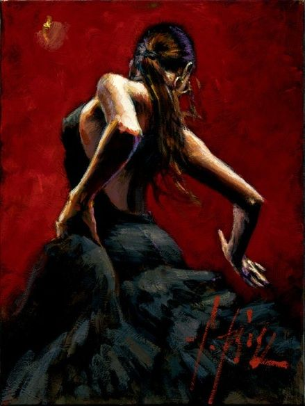Fabian Perez ; Flamenco Dancer                                                                                                                                                                                 More