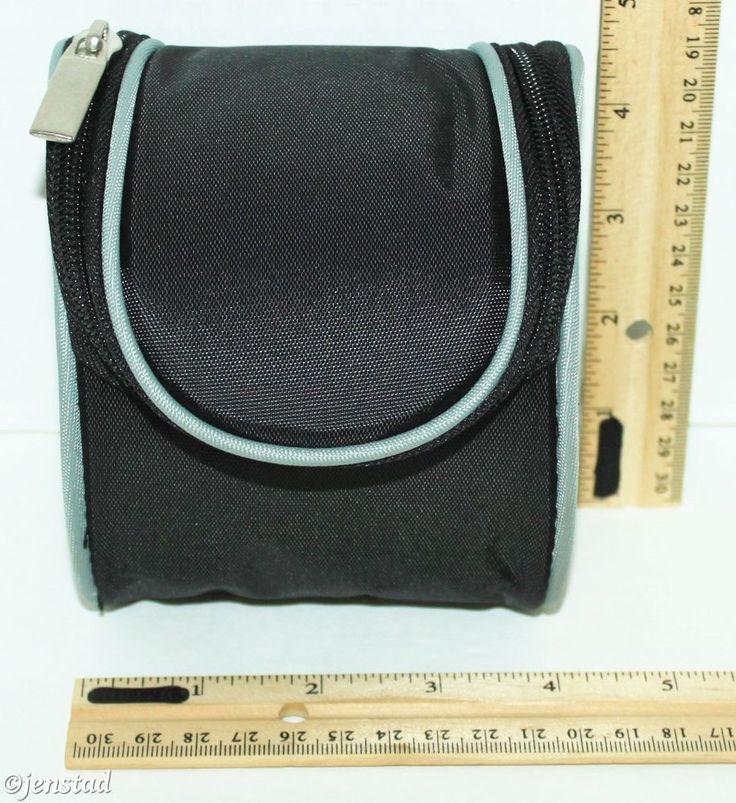"KODAK 4.5"" BLACK NYLON CAMERA BAG OR CASE & VELCRO DIVIDER ZIPPER BELT LOOP NEW #Kodak"