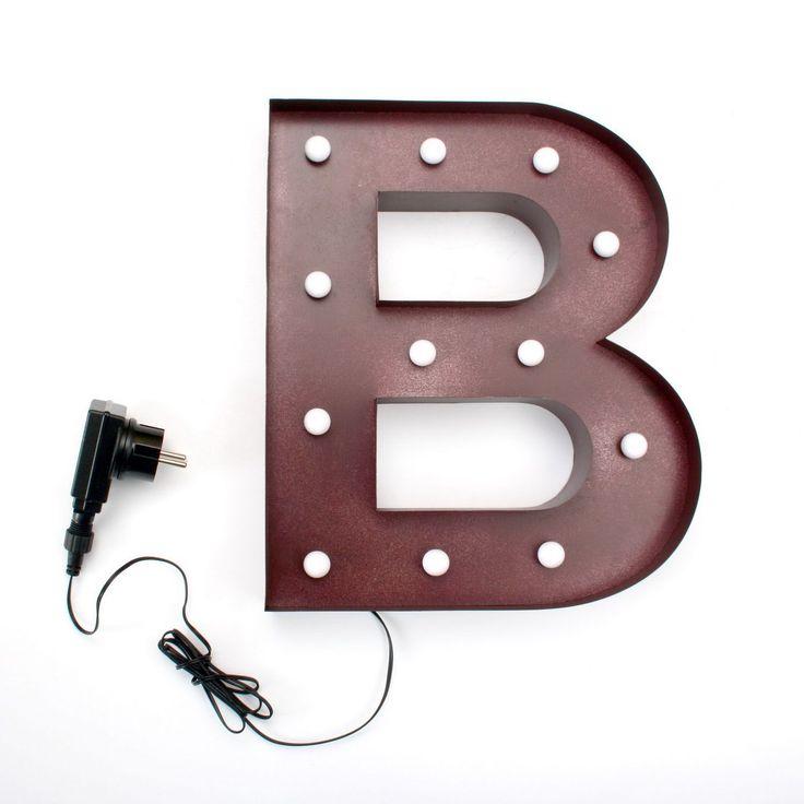 Decoratieve metalen verlichting LETTER B