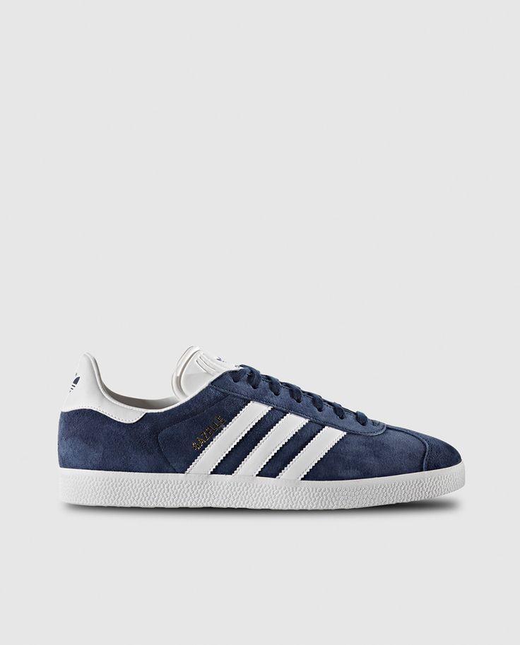 Zapatillas deportivas de mujer azules con franjas blancas Gazelle Adidas  Originals