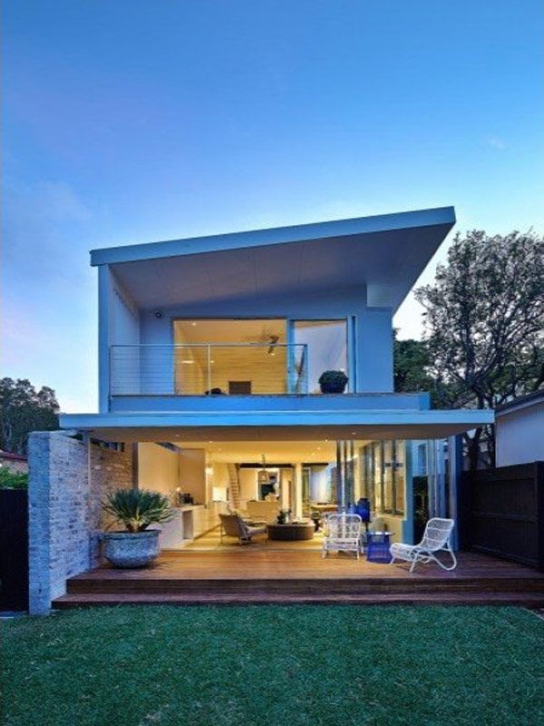 surprising modern home design with beach inspiration beautiful interior lighting modern home in sydney dusk view - Beach House Design Ideas