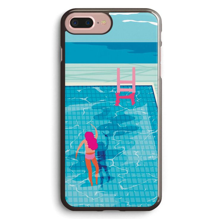 In Deep   Abstract Memphis Throwback 1980s Style Retro Neon Palm Springs Simmer Resort Country Club Poolside Vacation Apple iPhone 7 Plus Case Cover ISVD461