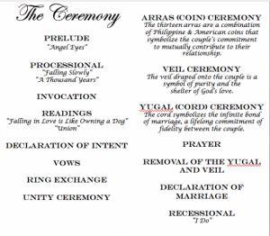 Ceremony Incorporating Filipino Traditions Wedding Ideas