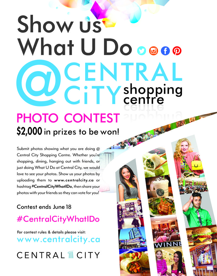 Show Us What U Do @Candice Stice City Shopping Centre and enter to win exciting prizes! For more info visit www.centralcity.ca