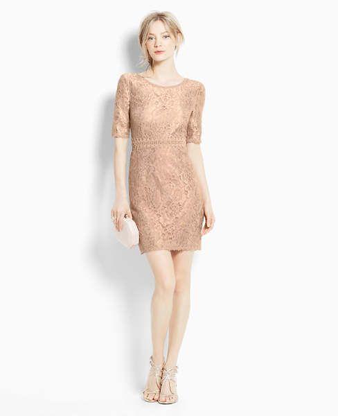 Gold Lace Short Dresses Fashion Rose