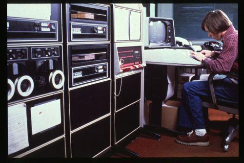 dinosaurspen:PDP-11 University of Pittsburgh date unknown.