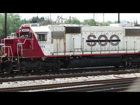 NS Roanoke Yard Near Virginia Museum Of Transportation - YouTube