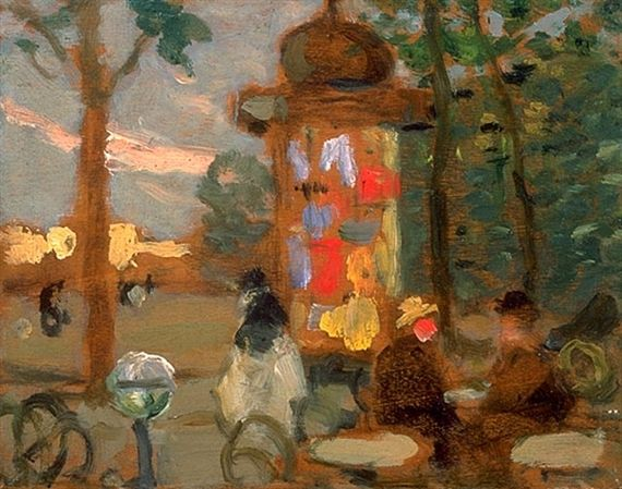 James Wilson Morrice, Kiosk and Square, Paris