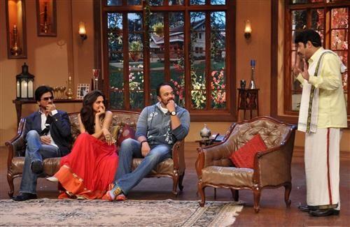 Shahrukh and Deepika in Comedy Nights with Kapil Hindi TV Serial