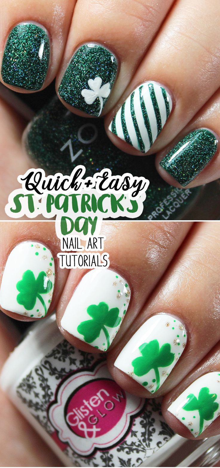 Nail Art Ideas shamrock nail art tutorial : 226 best Nails images on Pinterest | Html, Nail polishes and Swatch