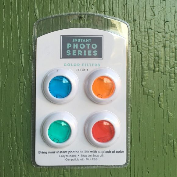 Instant photo series color filters Four different color filters / orange, blue, green, red. Urban Outfitters Other