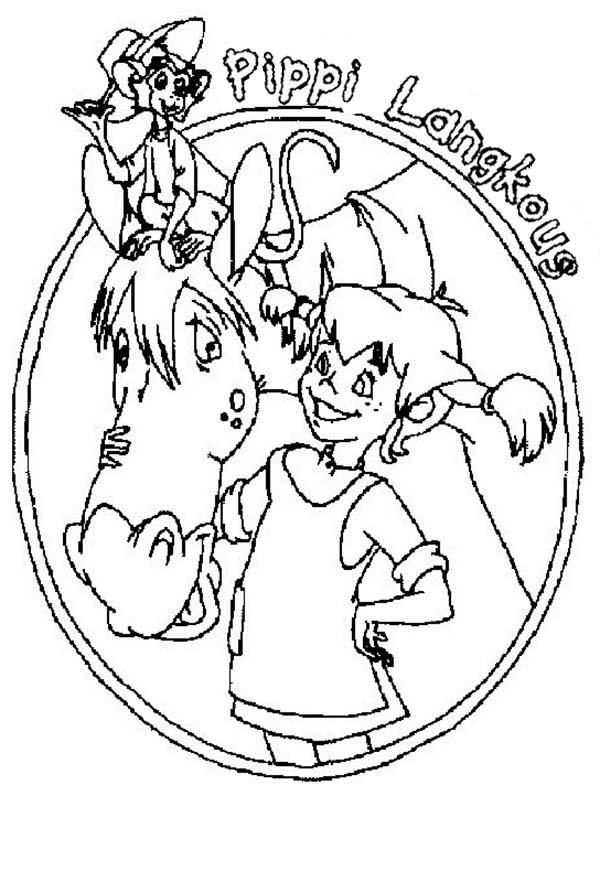 Read Morepippi Longstocking Book Cover Coloring Pages Vintage