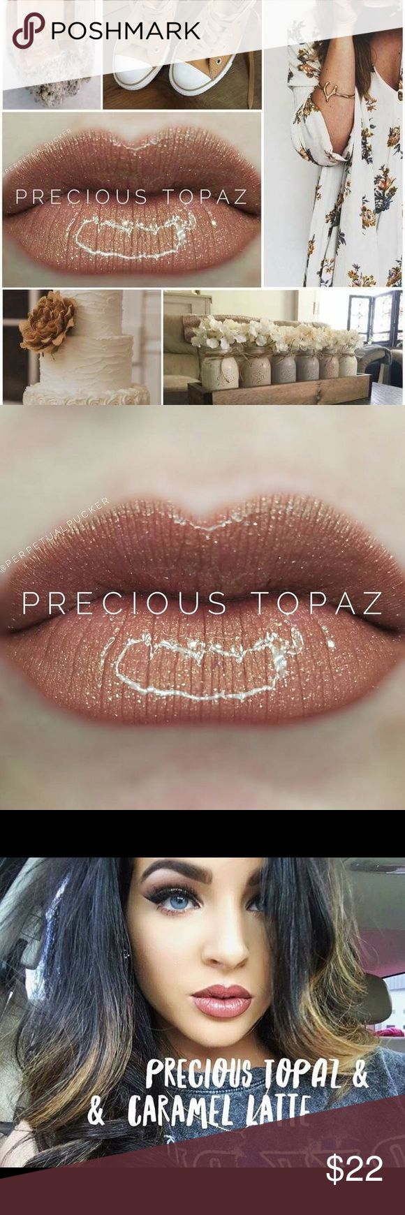 Precious Topaz LipSense 4-18 Hour Wear  LipSense is the premier product of SeneGence and is unlike any conventional lipstick, stain or color. It is waterproof, does not kiss-off, smear-off, rub-off or budge-off. It last from 4 to 18 hours. It is vegan, lead free, wax free, GMO free and gluten free. If you have never worn LipSense you will also need LipSense gloss to seal the color. Independent distributor for SeneGence #459685 SeneGence Makeup Lipstick