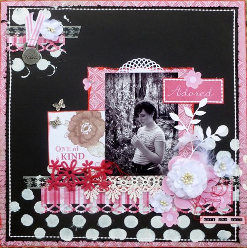 Another CRAA entry - just love the stunning black, pink and white combo.