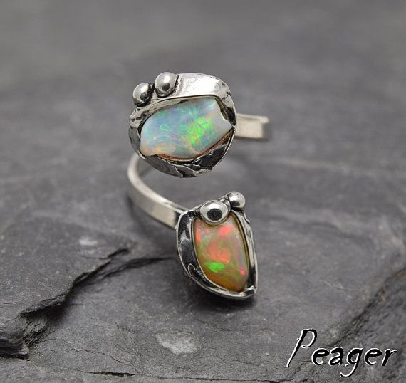 VIDEO Ethiopian Opal ringSterling silver ringWomens