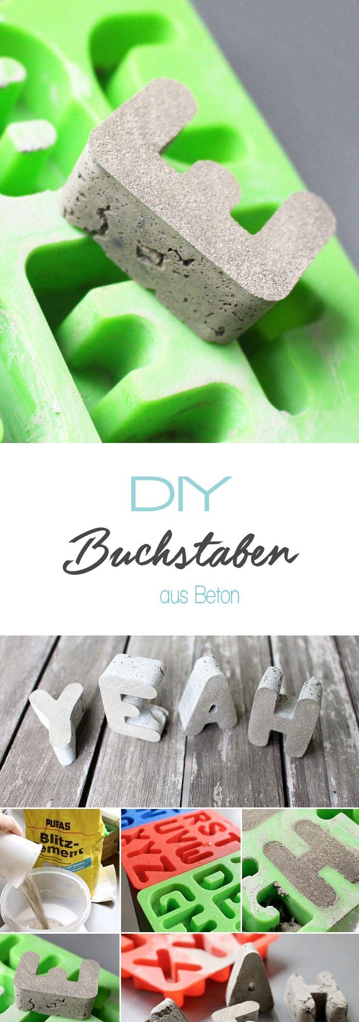Dani von Gingered Things zeigt dir auf ihrem Blog wie du aus Beton oder Blitzzement diese coolen Buchstaben basteln kannst. Ideal als Deko oder kreatives Geschenk.
