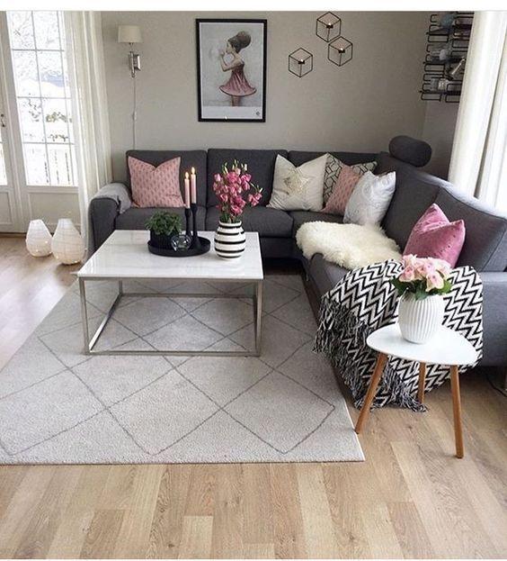 60+ graue kleine Wohnzimmer-Apartment-Designs, um fantastisch auszusehen – Kornelia Beauty