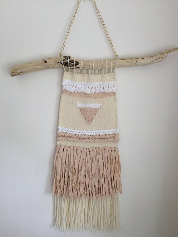 BLUSH Handmade woven wall-hanging Textile artwork