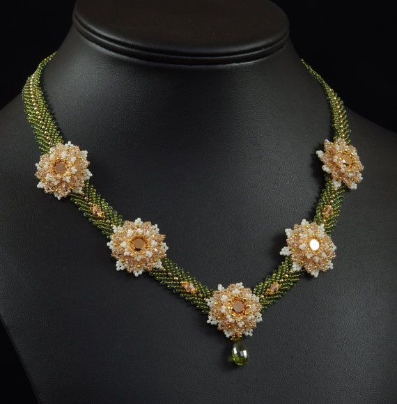 In Bloom Necklace Beadweaving Tutorial $12.50.  Seems worth buying at this price, its's a beautiful necklace.