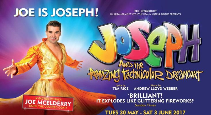 Treat yourself to a night at the theatre to see the 'Technicolor Triumph' (The Independent) that is Bill Kenwright's Joseph and the Technicolor Dreamcoat, starring Joe McElderry when it comes to the Forum this month for a week long run Tues 30 May - Sat 3rd June.   Tickets from £12.50 and available from > http://www.millenniumforum.co.uk/shows/joseph/?utm_content=buffer95206&utm_medium=social&utm_source=pinterest.com&utm_campaign=buffer