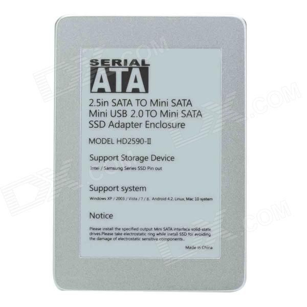 "Supports 2.5"" SATA I / II / III HDD / SSD With standard SATA interface, and transfer rate up to 6 Gbps; With min http://j.mp/1BvPao3"