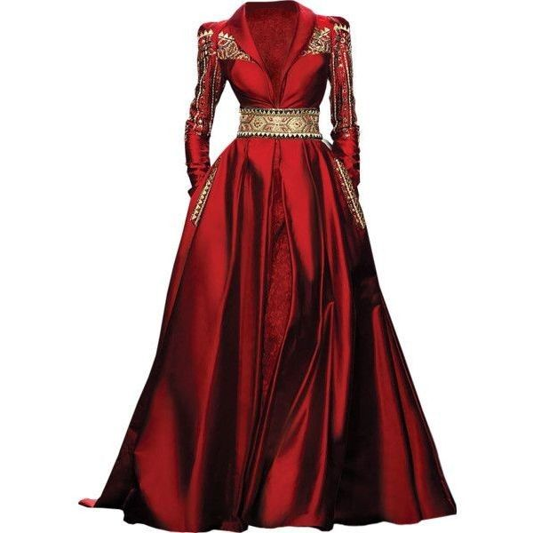 Randa Salamoun - edited by Satinee found on Polyvore | Idamaria ❤ liked on Polyvore featuring dresses, gowns, dolls, red, red babydoll dress, red gown, doll dress, red evening gowns and red dress