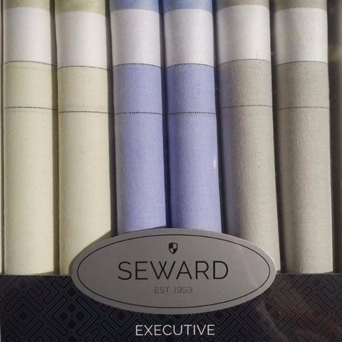 SEWARD     Men's Executive Boxed Handkerchiefs set of 6 - Executive Pastels