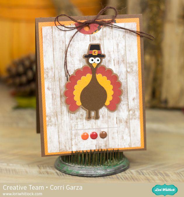 Lori Whitlock Thanksgiving Turkey Slider Window Card – Assembly Tutorial by Corri Garza.
