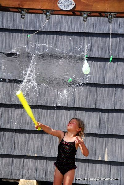 Water Obstacle Course! Use pool noodle instead of bat. For hot fall days at the beginning of school